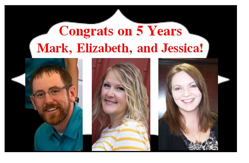 Congrats on 5 Years Mark, Elizabeth, and Jessica!