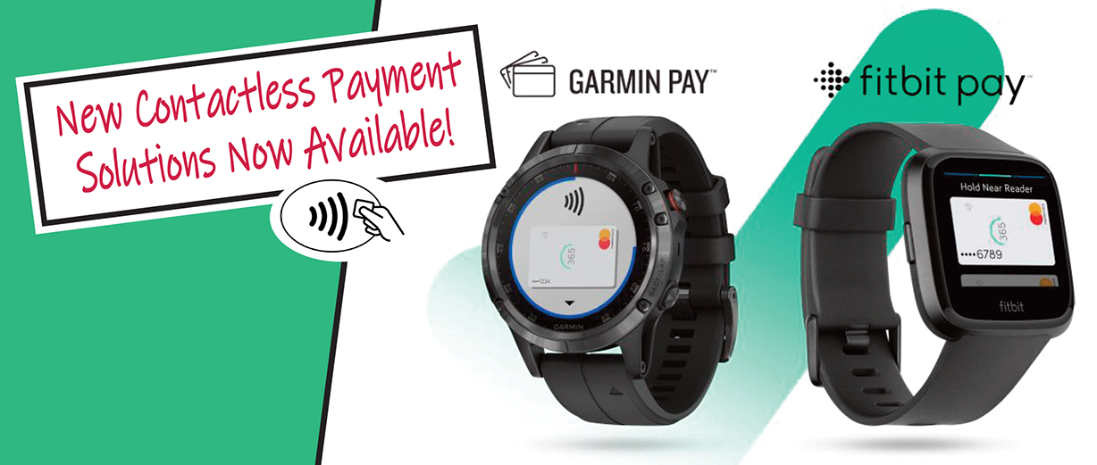 NEW! Use your CUSB debit card with Fitbit Pay and Garmin Pay!