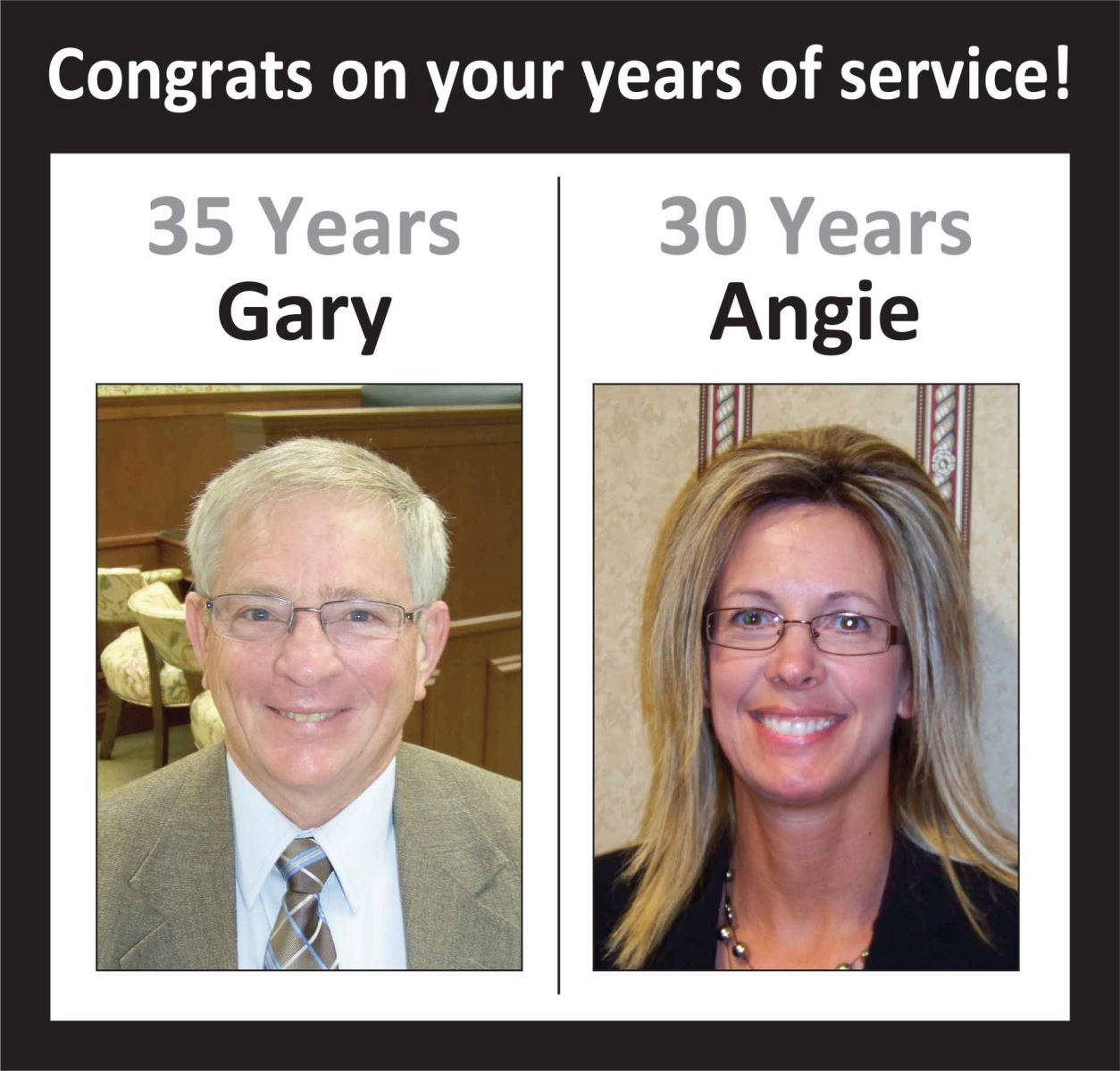 Congrats, Gary and Angie!