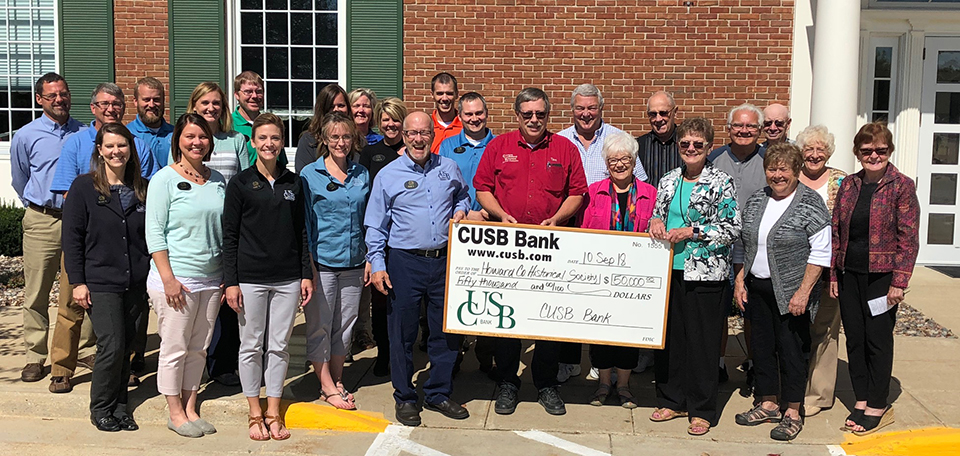 CUSB donates $50,000 to Howard County Historical Society Museum Addition