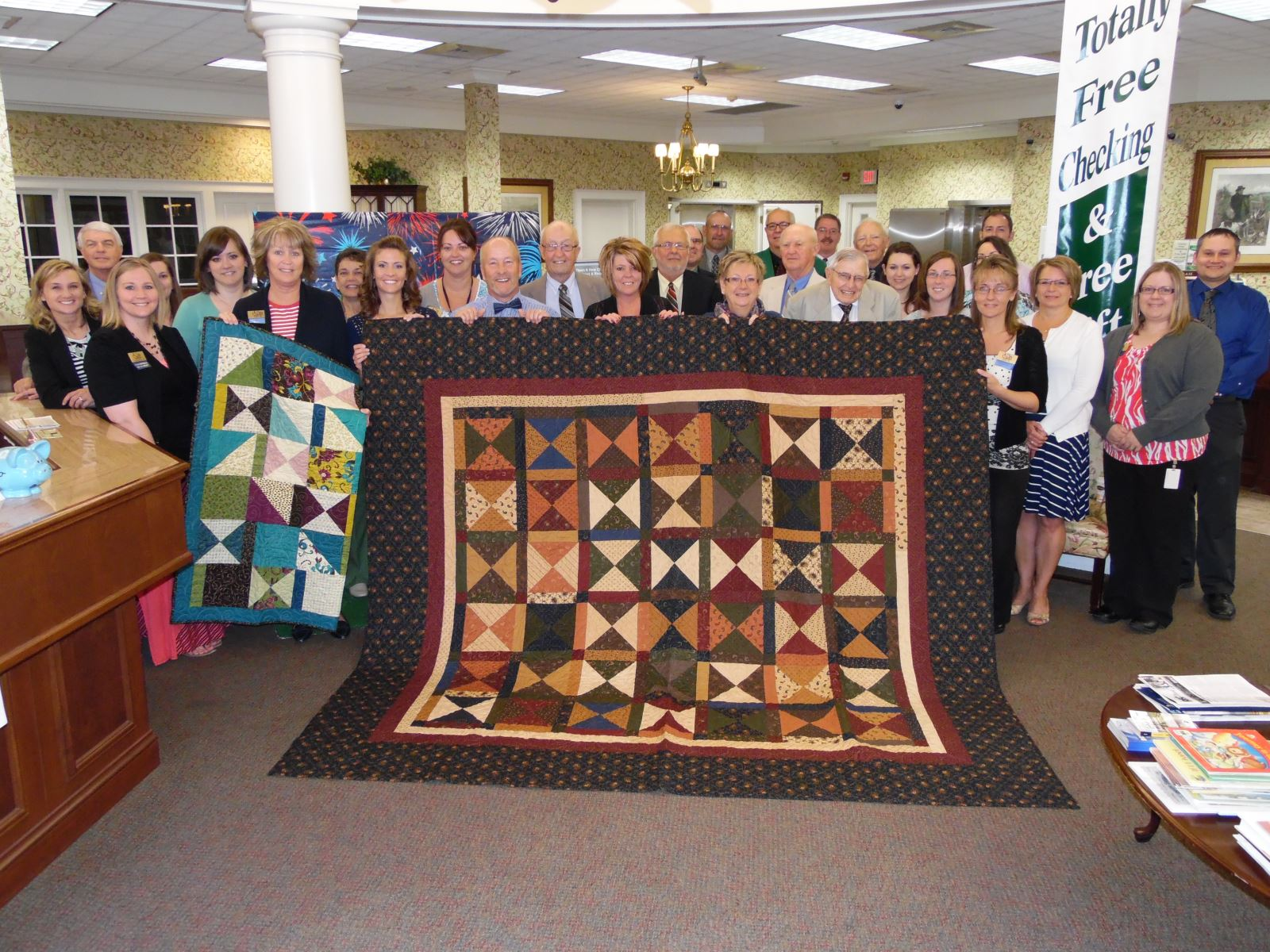 Donation to the Regional Health Services of Howard County Auxiliary's Annual Quilt Auction