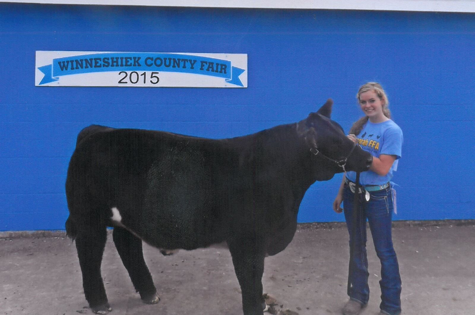 Madison Sexton with her beef project