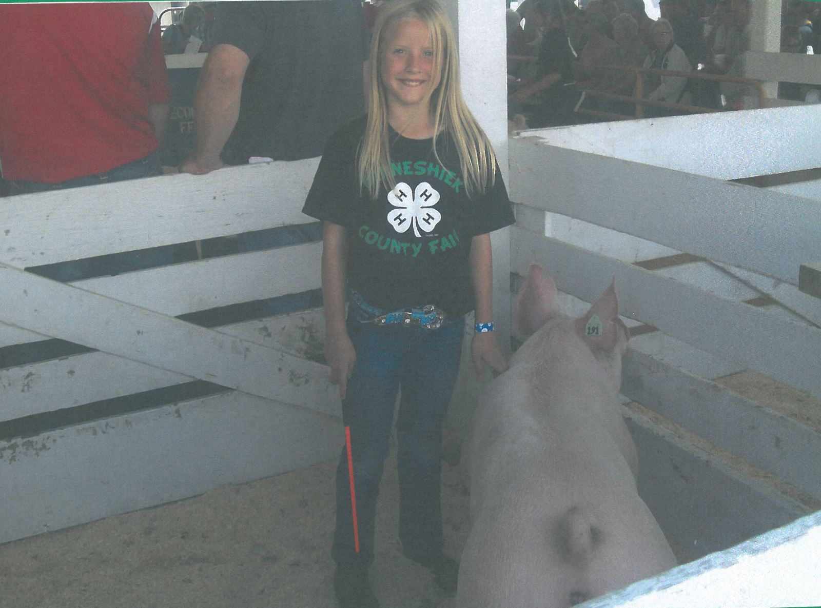 Addison Wemark with her swine project