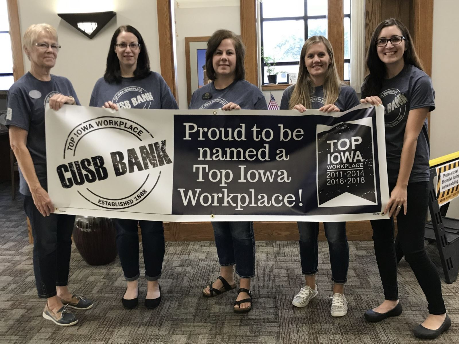 CUSB Bank is proud to be named a Top Iowa Workplace for the fourth time!