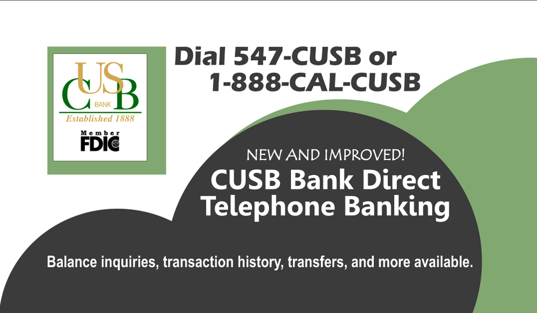 CUSB Bank Direct Telephone Banking