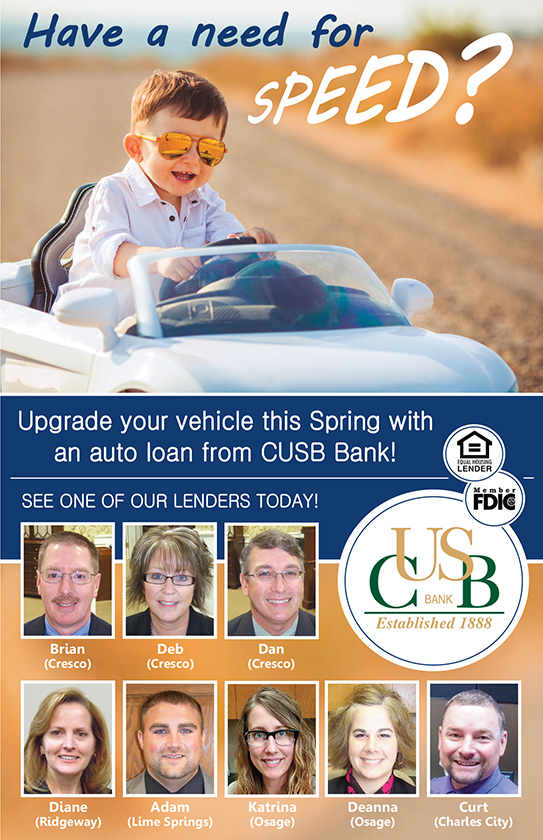 Take out an auto loan from CUSB