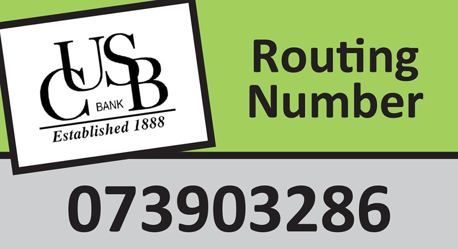 What's CUSB Bank's Routing Number?
